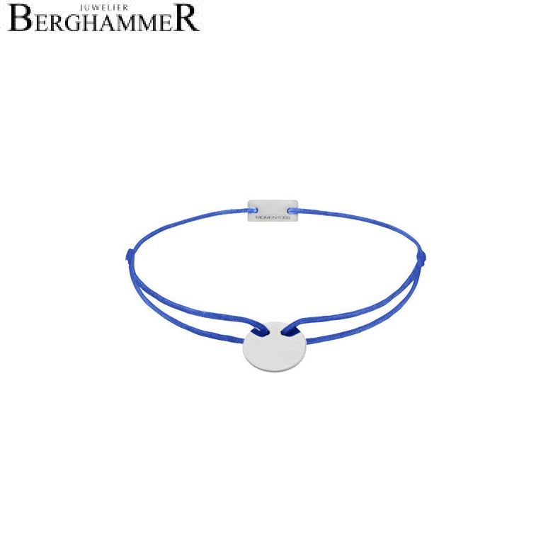 Filo Armband Textil Blitzblau 925 Silber rhodiniert 21200010