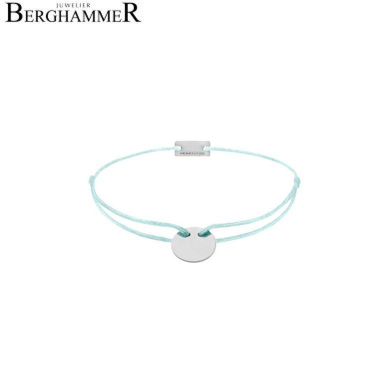 Filo Armband Textil Mint 925 Silber rhodiniert 21200011