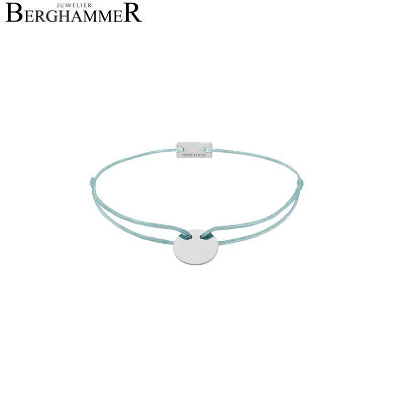 Filo Armband Textil Türkis 925 Silber rhodiniert 21200013