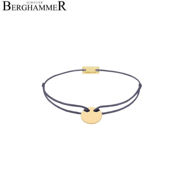 Filo Armband Textil Grau-Lila 925 Silber gelbgold vergoldet 21200014