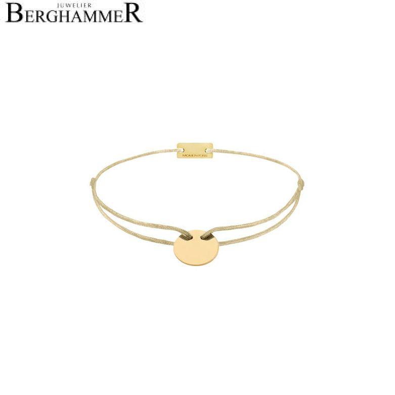Filo Armband Textil Champagne 925 Silber gelbgold vergoldet 21200016