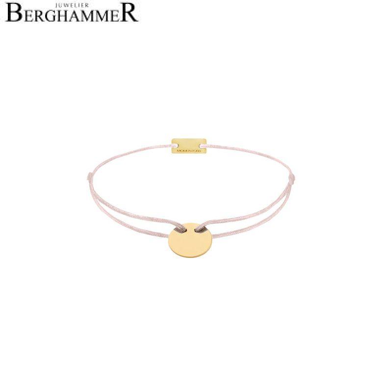 Filo Armband Textil Hellrosa 925 Silber gelbgold vergoldet 21200017