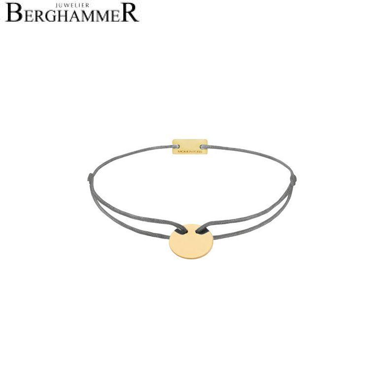 Filo Armband Textil Anthrazit 925 Silber gelbgold vergoldet 21200018