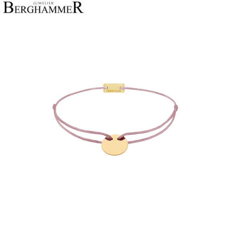 Filo Armband Textil Camel 925 Silber gelbgold vergoldet 21200019