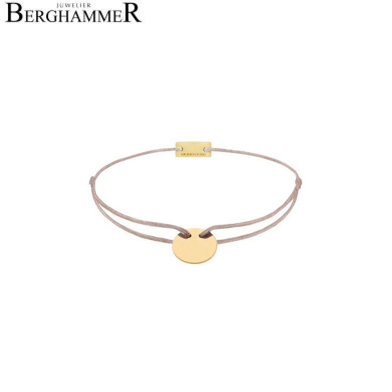 Filo Armband Textil Beige 925 Silber gelbgold vergoldet 21200020