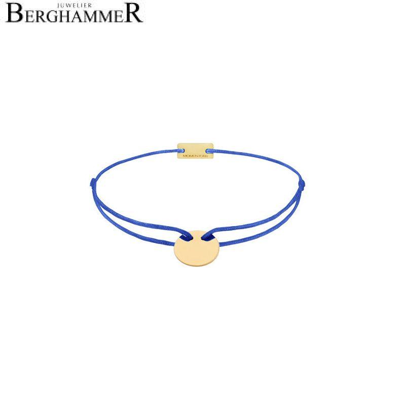 Filo Armband Textil Blitzblau 925 Silber gelbgold vergoldet 21200021