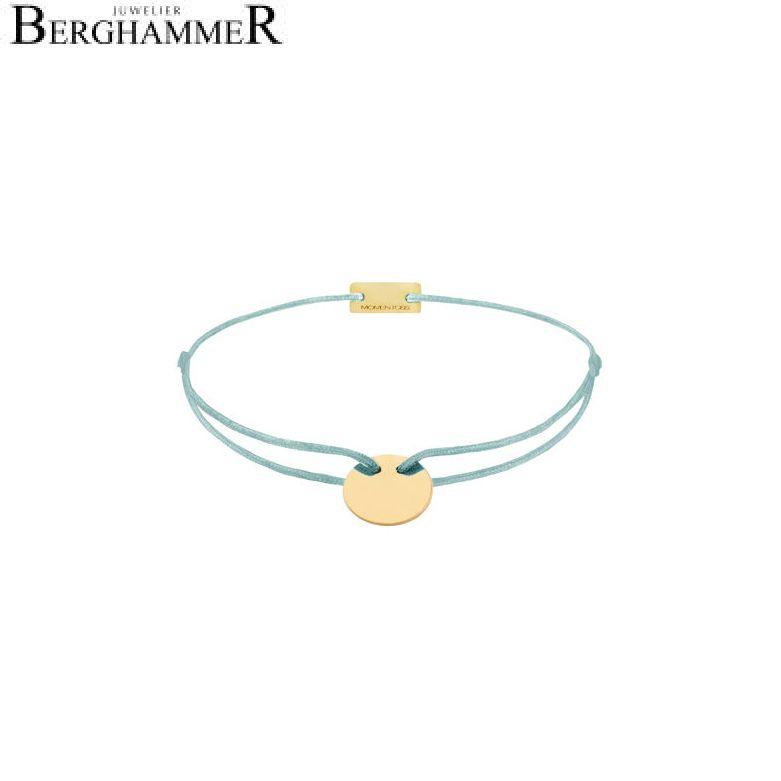 Filo Armband Textil Türkis 925 Silber gelbgold vergoldet 21200022
