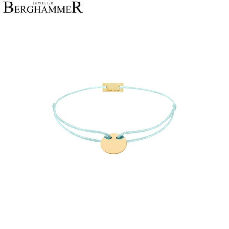 Filo Armband Textil Mint 925 Silber gelbgold vergoldet 21200023
