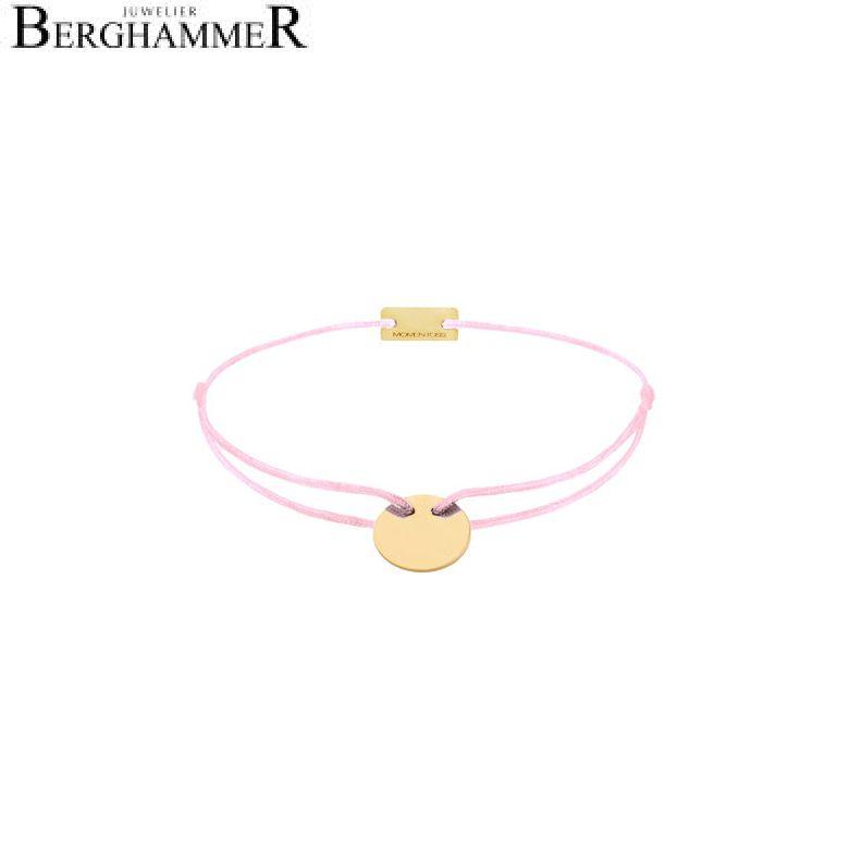 Filo Armband Textil Rosa 925 Silber gelbgold vergoldet 21200024