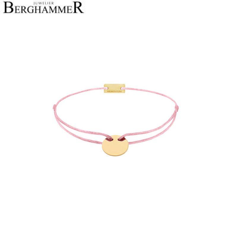 Filo Armband Textil Fuchsia 925 Silber gelbgold vergoldet 21200025