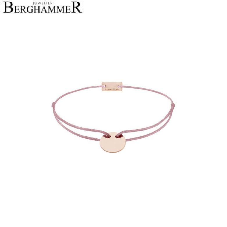 Filo Armband Textil Camel 925 Silber roségold vergoldet 21200027