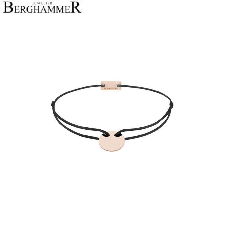 Filo Armband Textil Schwarz 925 Silber roségold vergoldet 21200028