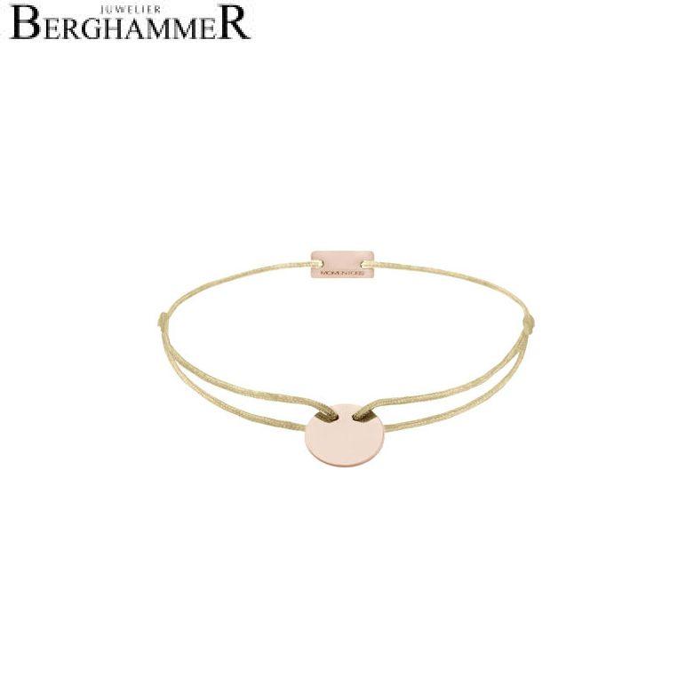 Filo Armband Textil Champagne 925 Silber roségold vergoldet 21200029