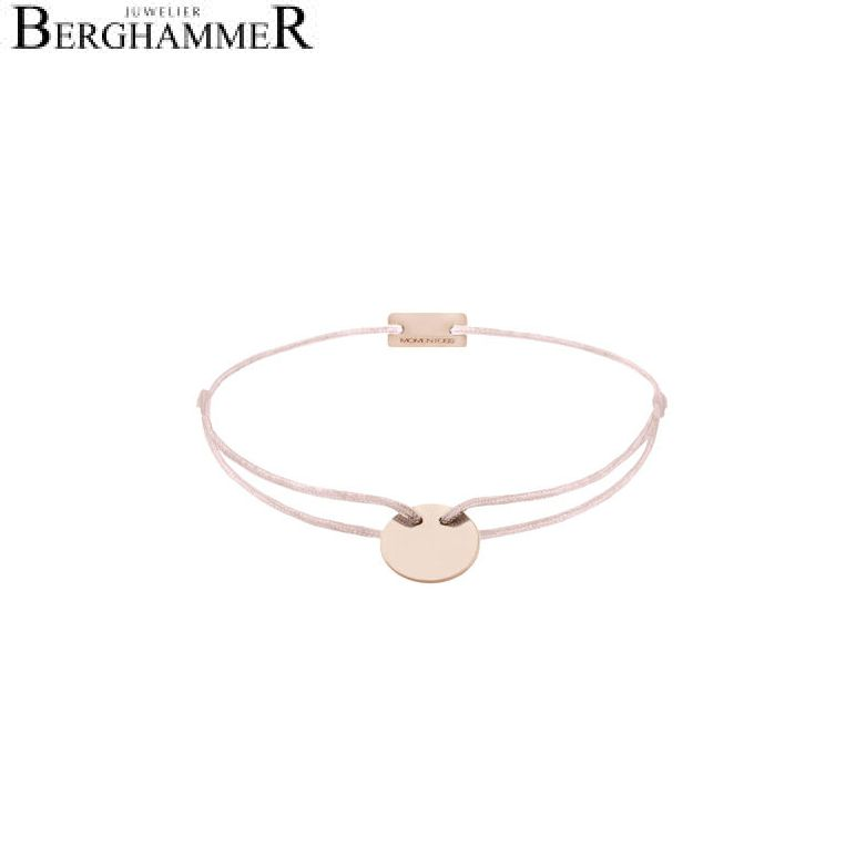 Filo Armband Textil Hellrosa 925 Silber roségold vergoldet 21200030