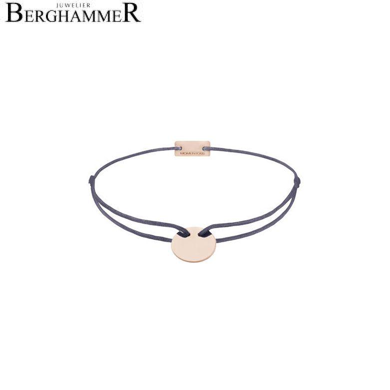 Filo Armband Textil Grau-Lila 925 Silber roségold vergoldet 21200032