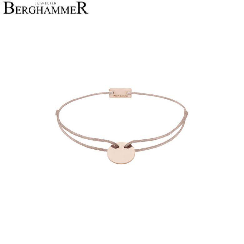 Filo Armband Textil Beige 925 Silber roségold vergoldet 21200033