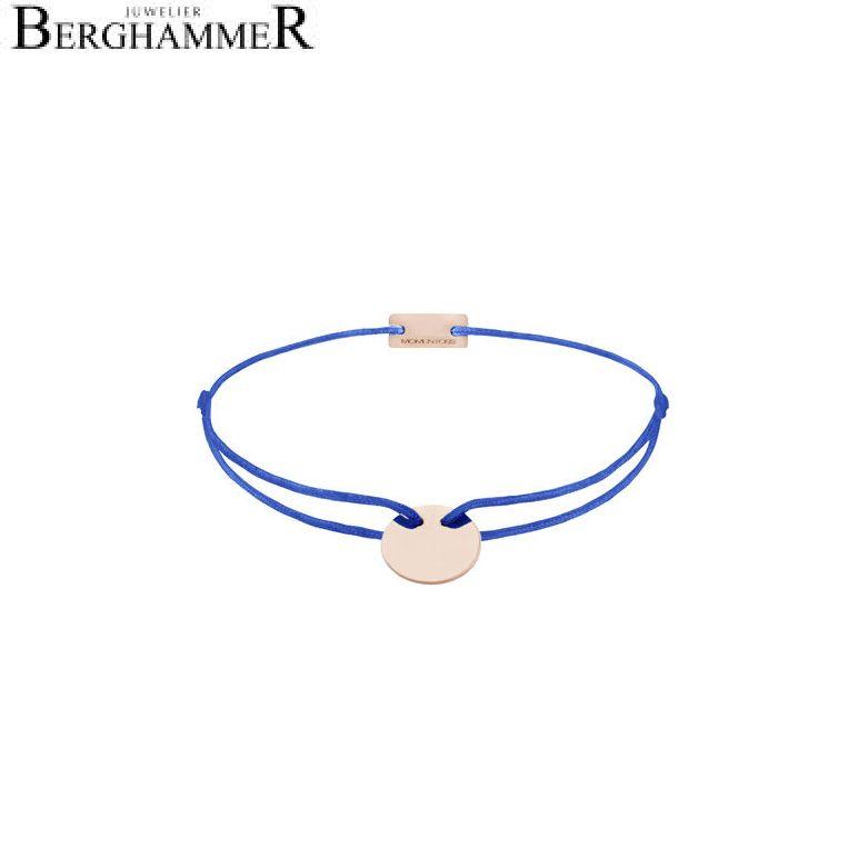 Filo Armband Textil Blitzblau 925 Silber roségold vergoldet 21200034
