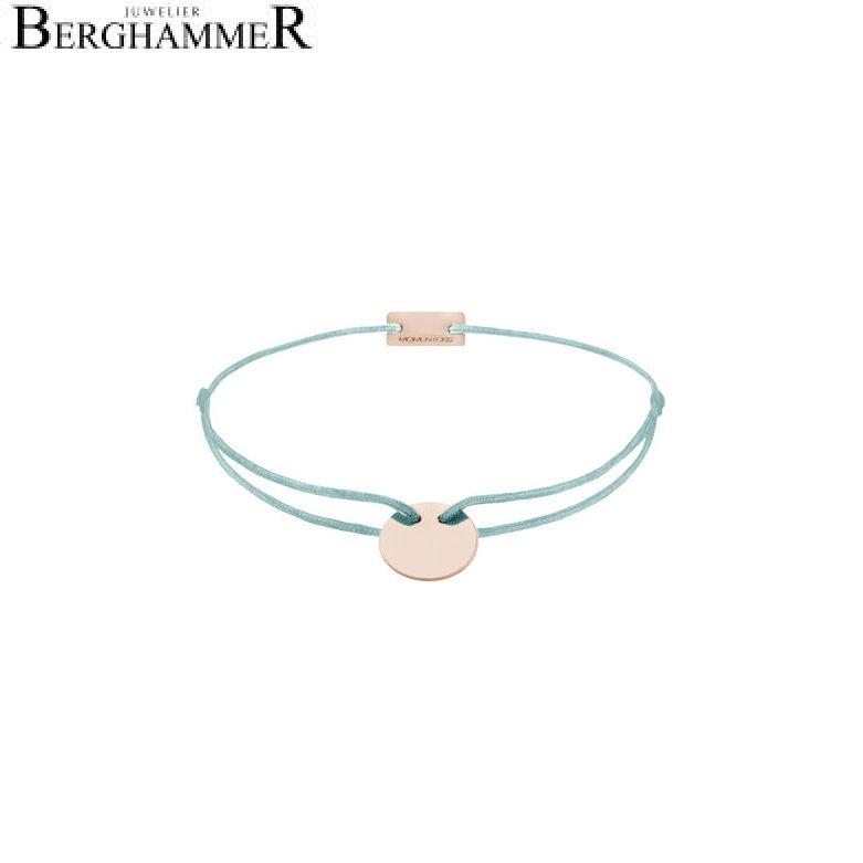 Filo Armband Textil Türkis 925 Silber roségold vergoldet 21200035