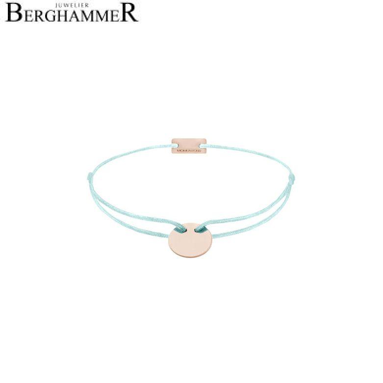 Filo Armband Textil Mint 925 Silber roségold vergoldet 21200036