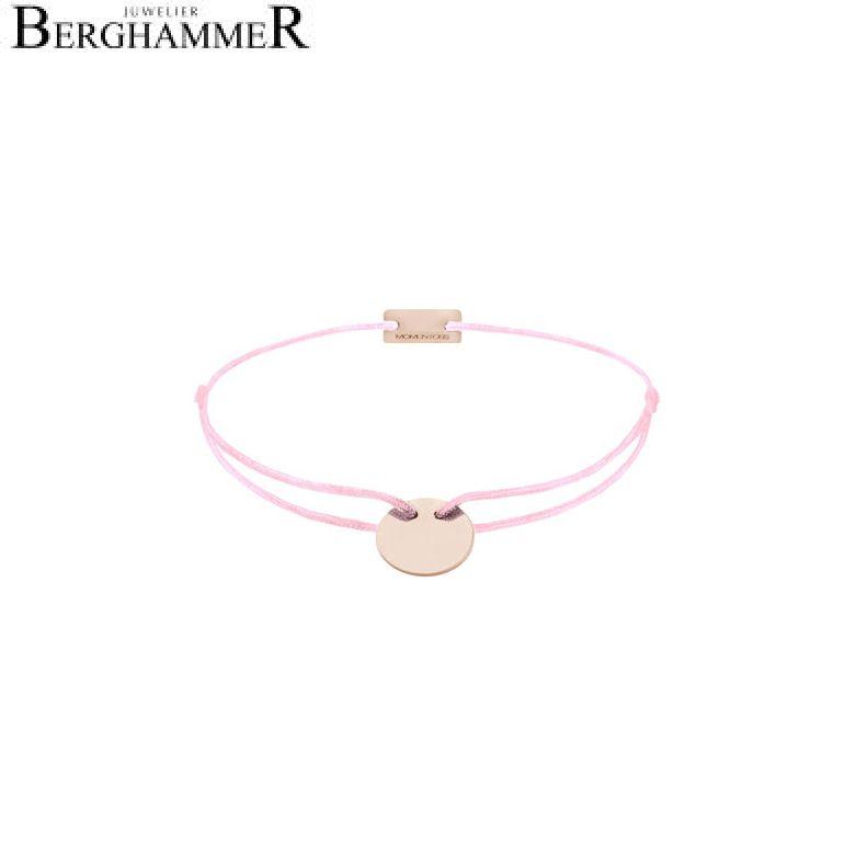 Filo Armband Textil Rosa 925 Silber roségold vergoldet 21200037