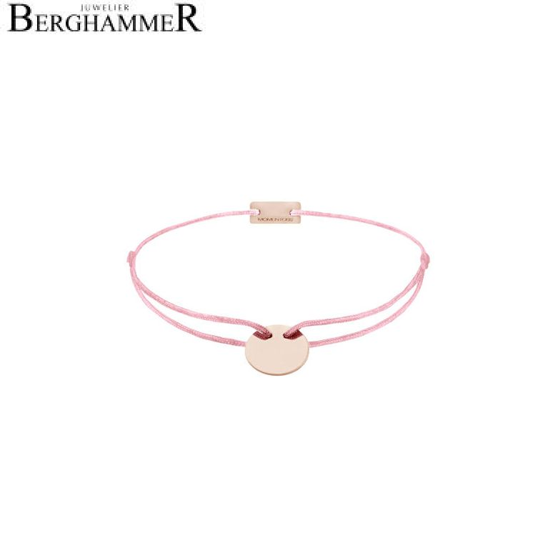Filo Armband Textil Fuchsia 925 Silber roségold vergoldet 21200038