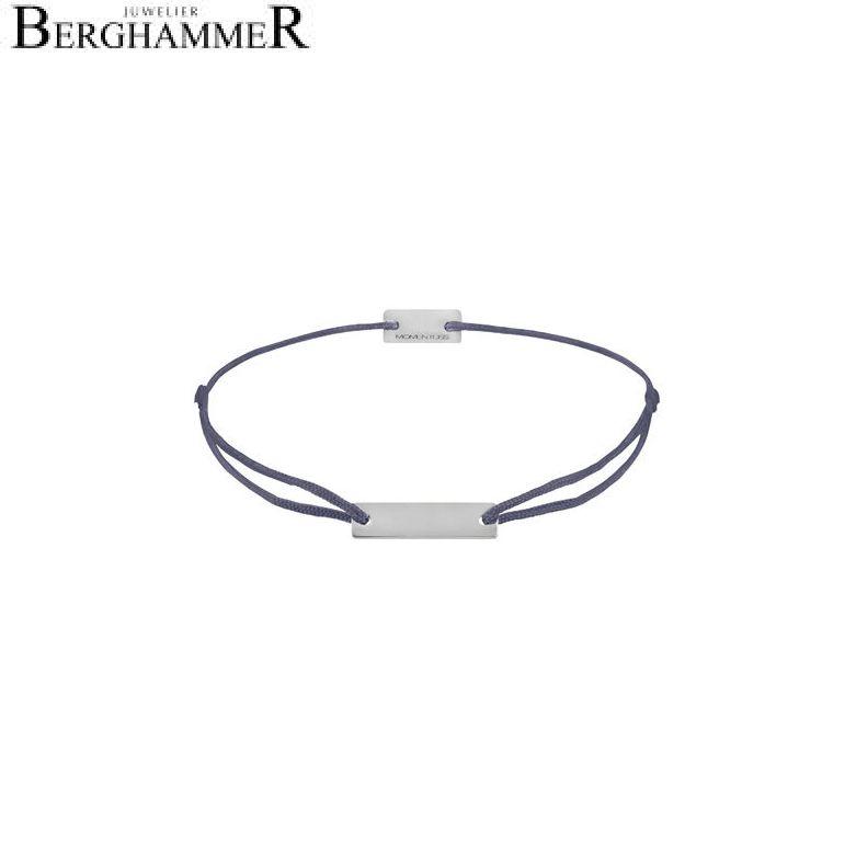 Filo Armband Textil Grau-Lila 925 Silber rhodiniert 21200044