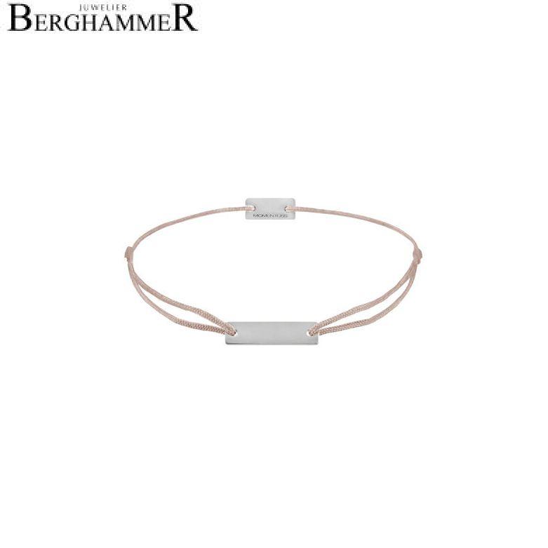 Filo Armband Textil Beige 925 Silber rhodiniert 21200045