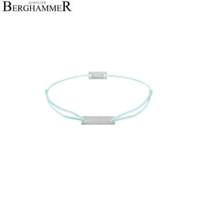 Filo Armband Textil Mint 925 Silber rhodiniert 21200046