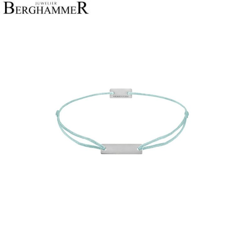 Filo Armband Textil Türkis 925 Silber rhodiniert 21200048