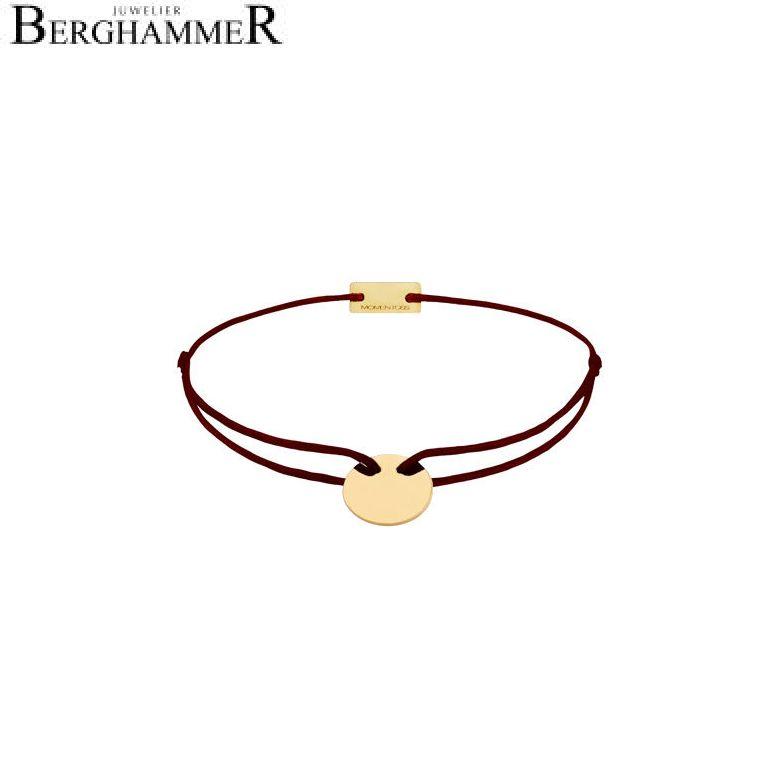 Filo Armband Textil Braun 750 Gold gelbgold 21200122