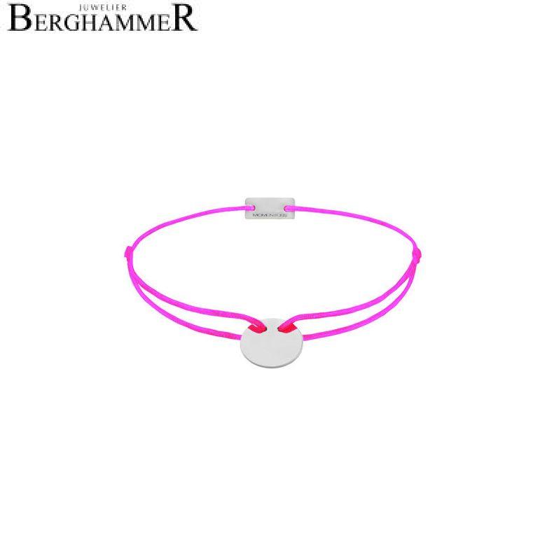 Filo Armband Textil Neon-Pink 750 Gold weißgold 21200130
