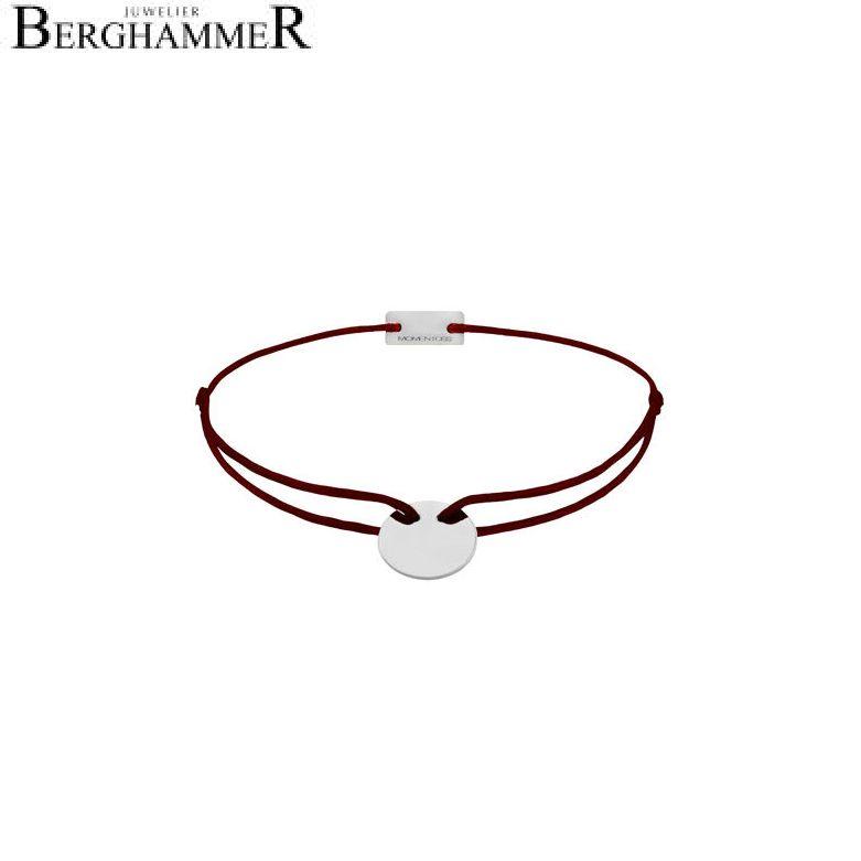 Filo Armband Textil Braun 750 Gold weißgold 21200184