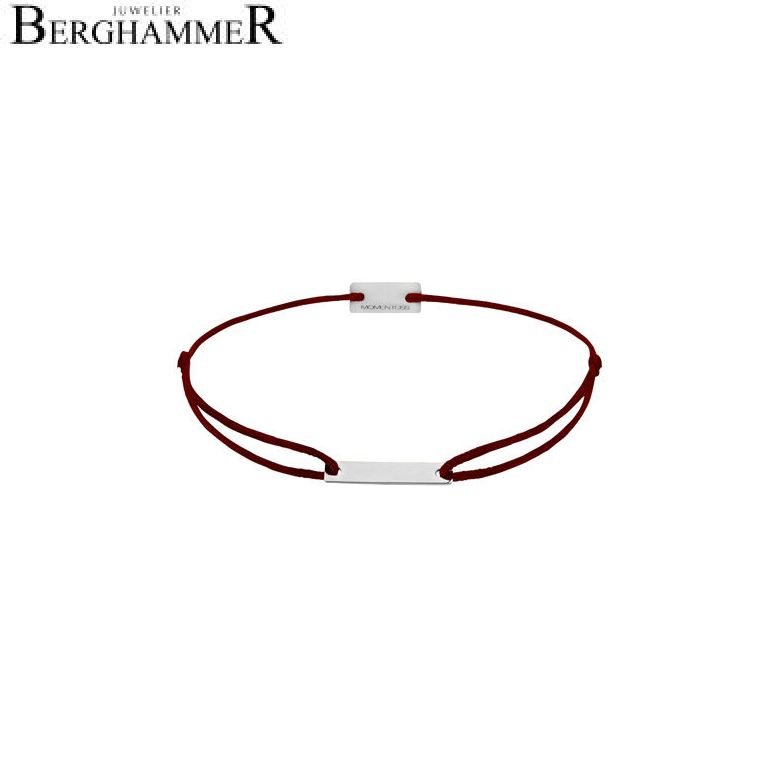 Filo Armband Textil Braun 750 Gold weißgold 21200186
