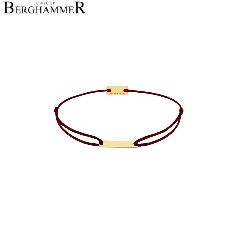Filo Armband Textil Braun 750 Gold gelbgold 21200187