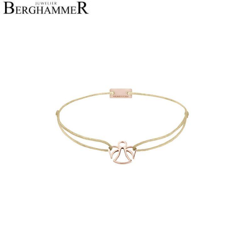 Filo Armband Textil Champagne Engel 925 Silber roségold vergoldet 21200223