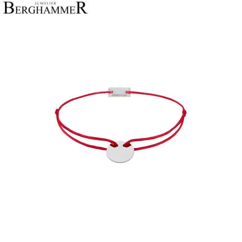 Filo Armband Textil Rot 750 Gold weißgold 21200400