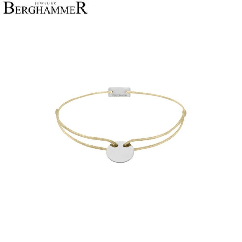 Filo Armband Textil Champagne 750 Gold weißgold 21200402