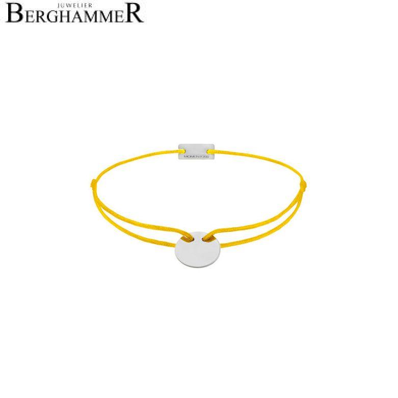 Filo Armband Textil Gelb 750 Gold weißgold 21200405