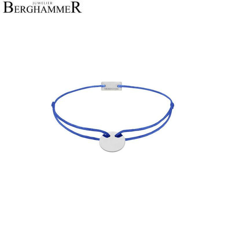 Filo Armband Textil Blitzblau 750 Gold weißgold 21200410