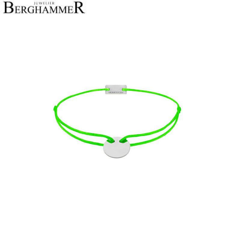 Filo Armband Textil Neon-Grün 750 Gold weißgold 21200417