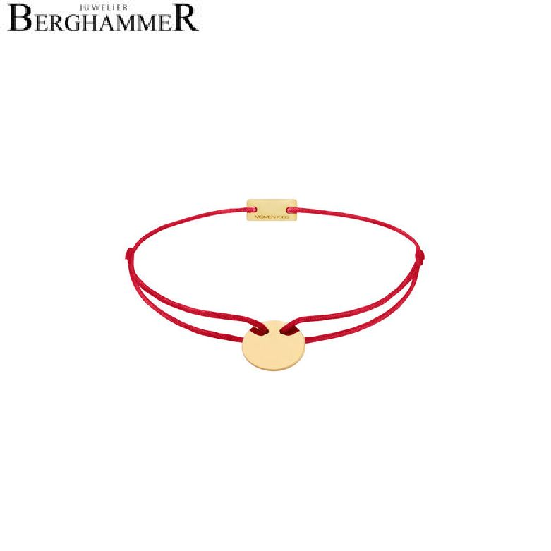 Filo Armband Textil Rot 750 Gold gelbgold 21200418