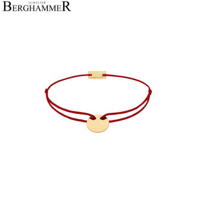 Filo Armband Textil Weinrot 750 Gold gelbgold 21200420