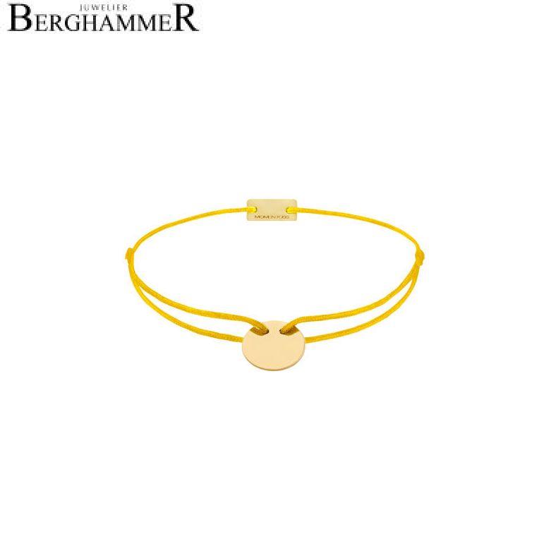 Filo Armband Textil Gelb 750 Gold gelbgold 21200421