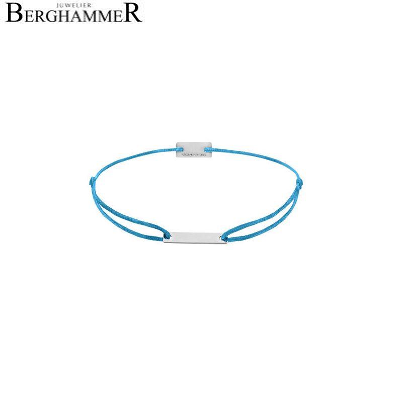 Filo Armband Textil Petrol 750 Gold weißgold 21200496