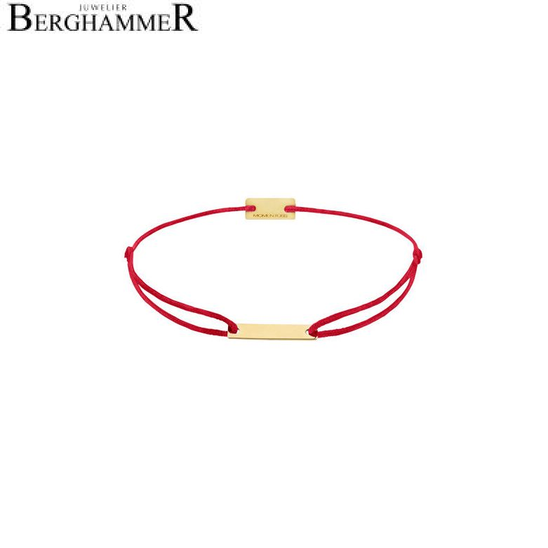 Filo Armband Textil Rot 750 Gold gelbgold 21200504