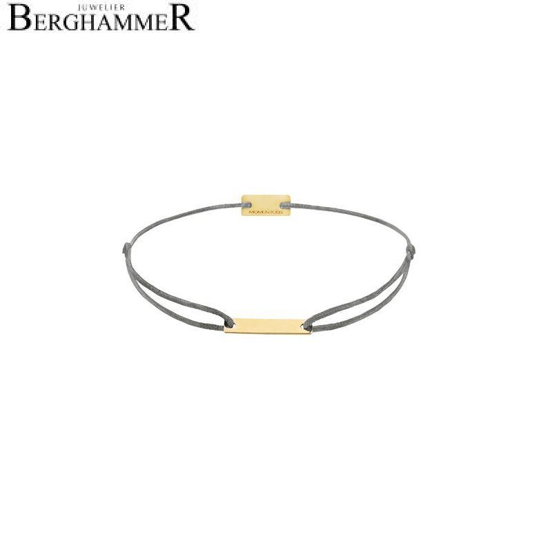 Filo Armband Textil Anthrazit 750 Gold gelbgold 21200513