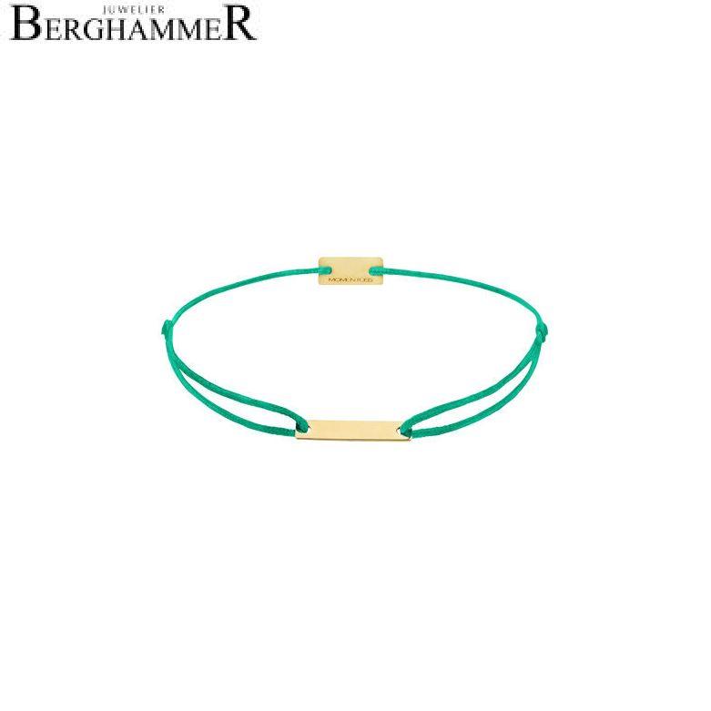 Filo Armband Textil Grasgrün 750 Gold gelbgold 21200521