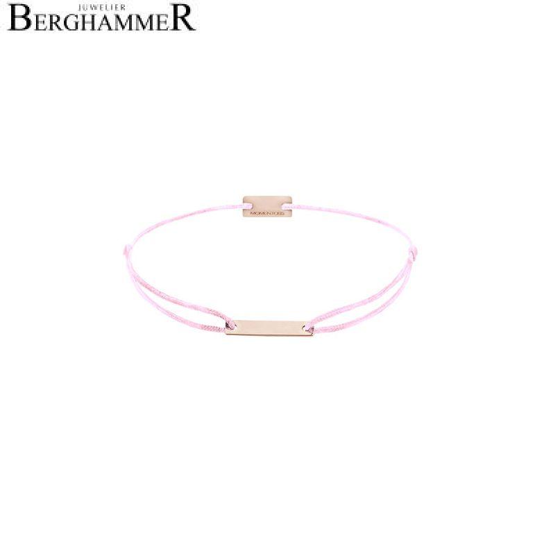 Filo Armband Textil Rosa 750 Gold roségold 21200530