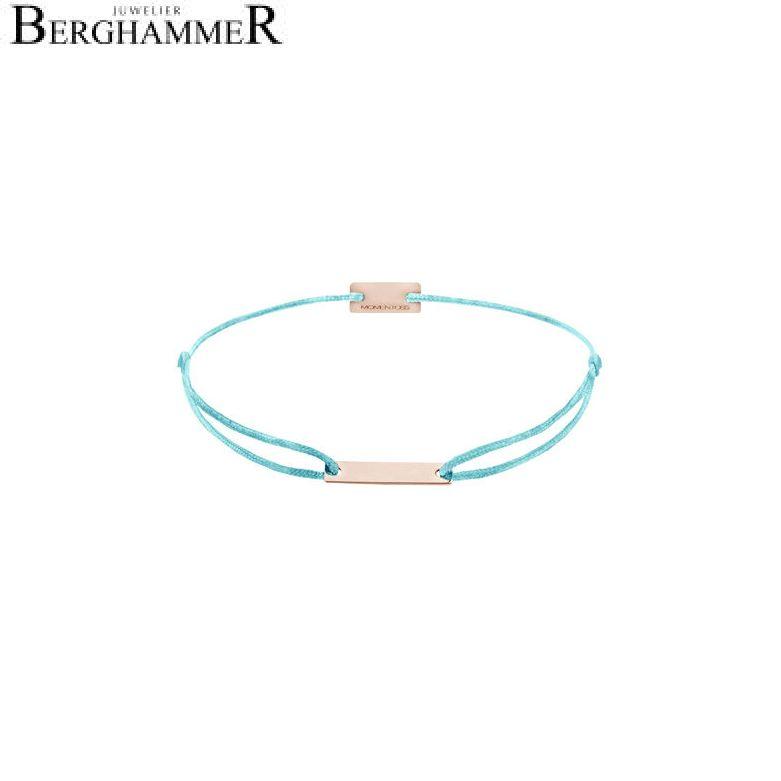Filo Armband Textil Hellblau 750 Gold roségold 21200539