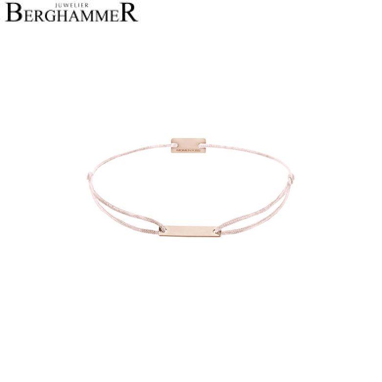 Filo Armband Textil Hellrosa 750 Gold roségold 21200544